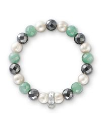 Thomas Sabo | Multicolor Charm Club Green Aventurine Bracelet | Lyst
