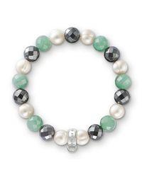 Thomas Sabo   Multicolor Charm Club Green Aventurine Bracelet   Lyst