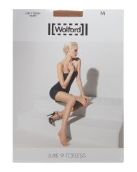 Wolford - Brown Luxe 9 Denier Toeless Tights - Lyst