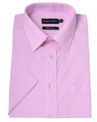 Double Two | Pink Plain Classic Fit Short Sleeve Classic Collar For for Men | Lyst