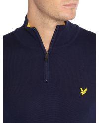 Lyle & Scott | Blue Golf Merino 1⁄4 Zip Jumper for Men | Lyst