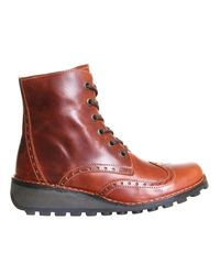 Fly - Brown Marl Lace Up Boots - Lyst