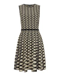 Ellen Tracy   Gray Jacquard Fit And Flare Dress   Lyst