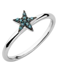 Links of London | Diamond Essentials Blue Pave Star Ring | Lyst