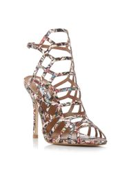 Steve Madden | Multicolor Slither Caged High Heel Sandals | Lyst
