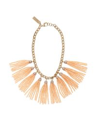Max Mara | Metallic Formica Tassel Necklace | Lyst