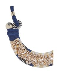 Max Mara - Blue Naiadi Embellished Necklace With Tie - Lyst