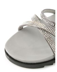 Daniel | Black Morvern Diamante Strap Sandals | Lyst