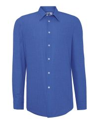 PS by Paul Smith   Blue Tailored Fit Chambray Shirt for Men   Lyst