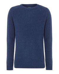Howick | Blue Mabereley Cotton Crew Neck Jumper for Men | Lyst