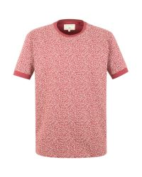 Racing Green | Red Oliver All Over Print T-shirt for Men | Lyst