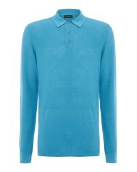 Chester Barrie | Blue L/s Polo Shirt for Men | Lyst
