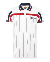 Ellesse | White Regular Fit Vertical Stripe Logo Polo Shirt for Men | Lyst