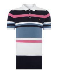 Farah   Black Crowther Regular Fit Varigated Stripe Polo Shirt for Men   Lyst