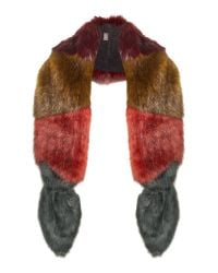 Helen Moore | Multicolor Multi Coloured Vixen Long Faux Fur Scarf | Lyst