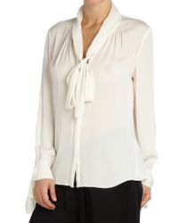 Ghost - White Rosie Blouse Ivory - Lyst