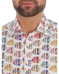 Simon Carter - Multicolor Large Tropical Fish Shirt for Men - Lyst