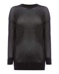 DIESEL | Black M-sibi Knitted Jumper | Lyst