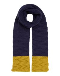 Dickins & Jones   Blue Zig Zag Knit Scarf for Men   Lyst
