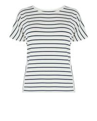 Warehouse - Blue Panel Stripe Tee - Lyst