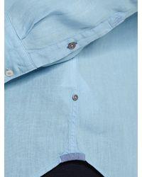 Marc O'polo - Blue Long-sleeved Shirt for Men - Lyst