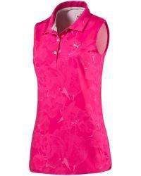 PUMA | Pink Bloom Sleeveless Polo | Lyst