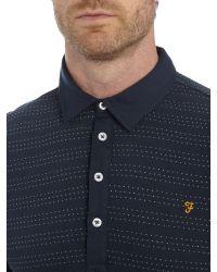 Farah | Blue Bentley Regular Fit Spot Stripe Polo Shirt for Men | Lyst