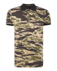 DIESEL | Natural T-coy Allover Camouflage Print Polo Shirt for Men | Lyst
