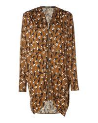Biba | Brown Toucan Printed Zip Up Tunic | Lyst