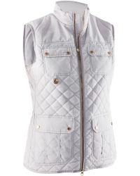 Abacus | White Holmen Quilted Gilet | Lyst