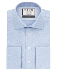 Thomas Pink | White Joseph Texture Slim Fit Double Cuff Shirt for Men | Lyst