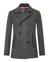 Ted Baker | Gray Biza Wool-blend Peacoat for Men | Lyst