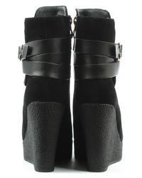 Daniel | Black Sandhurst High Wedge Buckle Ankle Boots | Lyst