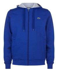 Lacoste | Blue Hooded Fleece Sweatshirt for Men | Lyst