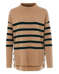 Basler | Brown Roll Neck Wool Sweater | Lyst