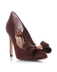 Ted Baker | Blue Ichlibi* Satin Bow Court Shoes | Lyst