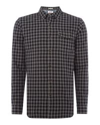 Tommy Hilfiger | Black Thdm Herringbone Gingham Shirt for Men | Lyst