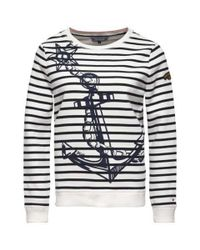 Tommy Hilfiger | White Olympia Anchor Print Sweater | Lyst
