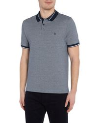Original Penguin - Blue Contrast-trims Short Sleeve Polo Shirt for Men - Lyst