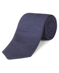 Jaeger | Blue Silk Straw Jacquard Tie for Men | Lyst
