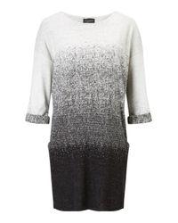 James Lakeland | Gray Jacquard 3/4 Sleeve Dress | Lyst