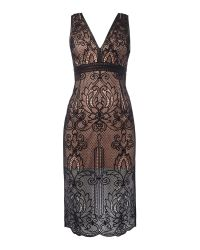 Bardot | Black Ornate Sleeveless Midi Dress | Lyst