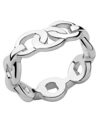 Links of London | Metallic Signature Sterling Silver Band Ring | Lyst