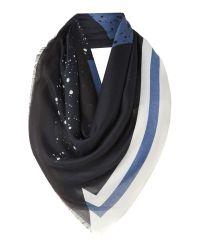 Calvin Klein   Blue Large Logo Dot Noah Scarf   Lyst