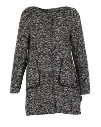 Izabel London | Gray Hooded Poncho Coat | Lyst