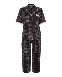 DKNY | Black Ss Top And Capri Exclusive Pyjama Set | Lyst
