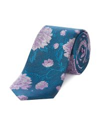 Ted Baker | Blue Nerther Floral And Spots Tie for Men | Lyst