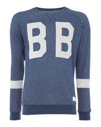 Björn Borg   Blue Large Logo Crew Neck Sweat for Men   Lyst