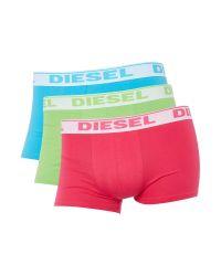 DIESEL   Green 3 Pack Shawn Logo Waistband Trunk for Men   Lyst