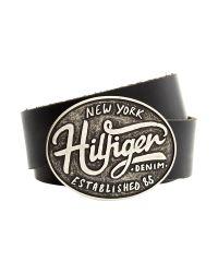 Tommy Hilfiger | Brown Large Buckle 4cm Hilfiger Belt for Men | Lyst